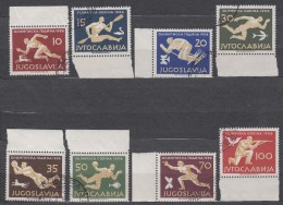 Yugoslavia Republic 1956 Sport Olympic Games Melbourn Mi#804-811 Used - Gebruikt