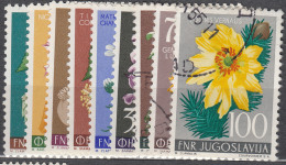 Yugoslavia Republic 1955 Flowers Mi#765-773 Mint/used - Gebruikt