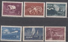 Yugoslavia Republic 1950 Ships (Navy Day) Mi#622-627 Mint Never Hinged - 1945-1992 Socialistische Federale Republiek Joegoslavië