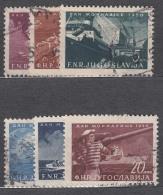 Yugoslavia Republic 1950 Ships (Navy Day) Mi#622-627 Used - Gebruikt