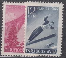 Yugoslavia Republic, Sport - Ski Jumping 1949 Mi#570-571 Mint Never Hinged - 1945-1992 Socialistische Federale Republiek Joegoslavië