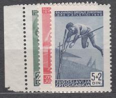 Yugoslavia Republic 1948 Sport - Athletic Mi#557-559 Mint Never Hinged - 1945-1992 Socialistische Federale Republiek Joegoslavië