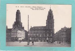 Small Old Postcard Of Place D`Armes,Calais, Nord-Pas-de-Calais-Picardie, France,K53. - Calais