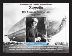 Gambia 2017 Zeppelins 100 Years In Memoriam - Zeppelins