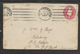 S.Africa,1d Envelope JOHANNESBURG NOV 29 1918 > Malohong  P.O.Mapela, Via P. PIETERSRUST TRANSVAAL - South Africa (...-1961)