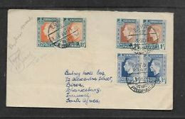 S.Africa, Forces In Egypt, > S.A., WWII, EGYPT 59 POSTAGE PAID 5 SE 41, Air Mail, Franked 2s9d Coronation Pairs - South Africa (...-1961)