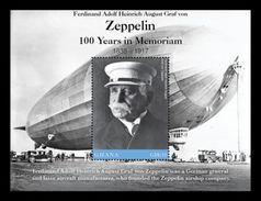 Ghana 2017 Zeppelin 100 Years In Memoriam - Zeppelins