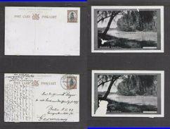 S.Africa, Kroonstad Valsch River,1 1/2d Postal Card, Damaged, Used LICHTENBURG6 FEB 28 - Zuid-Afrika (...-1961)
