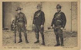 """41- WWI - Guerre De 1914- CAVALIERS CANADIENS - Ed. """" Pats De France """" - Guerre 1914-18"""