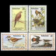 BAHAMAS 1985 - Scott# 576-9 Audubon Birds Set Of 4 LH - Bahamas (1973-...)