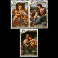 PENRHYN 1987 - Scott# 354-6 Christmas-Raphael Set Of 3 MNH - Penrhyn