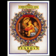 PENRHYN 1991 - Scott# 400 S/S Christmas MNH - Penrhyn