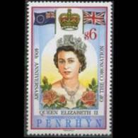 PENRHYN 1993 - Scott# 419 Coronation Set Of 1 MNH - Penrhyn