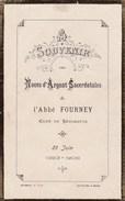 Mémento - Souvenir Des Noces D'Argent Sacerdotales De L'Abbée Fourney, Curé De Bézouotte (21) - 29 Juin 1908 - Announcements