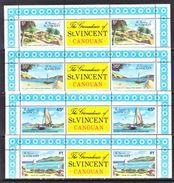 ST. VINCENT  GRENADINES  129-32    **    ISLAND  OF  CANOUAN - St.Vincent (...-1979)