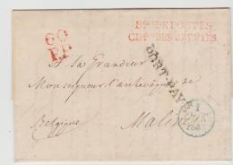 FP202 / FRANKREICH -  Dienstbrief Paris - Maline (Belgien) 1833 - Poststempel (Briefe)