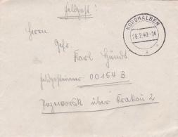 Feldpost WW2: To Przeworsk In SE Poland - Infanterie-Regiment 342 (9./III) FP 00154B P/m Nordhalben 26.2.1940 - Letter I - 2. Weltkrieg