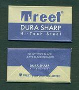 Treet Dura Sharp Hi-Tech Steel Razor Blade In Wrapper - Made In Pakistan - Razor Blades