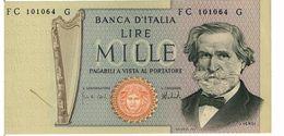 REPUBBLICA ITALIANA - 1000 LIRE GIUSEPPE VERDI -  FIOR DI STAMPA - DECR. 05/08/1975 - CARLI - BARBARITO - FC101064G - [ 2] 1946-… : Républic