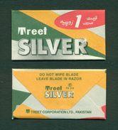 PAKISTAN - Treet Silver Blade - Razor Blade + Wrapper - Made In Pakistan - Razor Blades