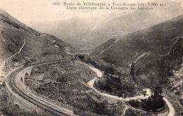 CPA - 66 - Route De Villefranche à Font-Romeu - Ligne Electrique De La Cerdagne- Voie De Chemin De Fer - Le Limaçon - Frankrijk