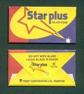 PAKISTAN - STAR PLUS SILVER EDGE BLADE - Razor Blade + Wrapper - Made In Pakistan - Razor Blades