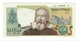REPUBBLICA ITALIANA - 2000 LIRE GALILEO GALILEI -  FIOR DI STAMPA - DECR. 08/10/1973 - CARLI - BARBARITO - LA149109A - [ 2] 1946-… : Republiek