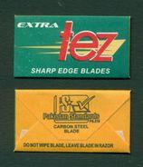PAKISTAN - EXTRA TEZ SHARP EDGE Carbon Steel BLADE - Razor Blade + Wrapper - Made In Pakistan - Razor Blades