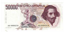 REPUBBLICA ITALIANA - 50000 LIRE LORENZO BERNINI -  FIOR DI STAMPA - DECR. 06/02/1984 - CIAMPI - STEVANI  - AA640423B - [ 2] 1946-… : Républic