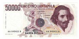 REPUBBLICA ITALIANA - 50000 LIRE LORENZO BERNINI -  FIOR DI STAMPA - DECR. 06/02/1984 - CIAMPI - STEVANI  - AA640422B - [ 2] 1946-… : Républic