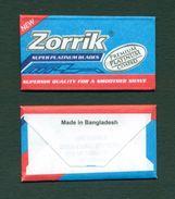 BANGLADESH - NEW ZORRIK SUPER PLATINUM BLADE - Razor Blade + Wrapper - Made In Bangladesh - Razor Blades