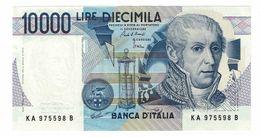 REPUBBLICA ITALIANA - 10000 LIRE ALESSANDRO VOLTA -  FIOR DI STAMPA - DECR. 03/09/1984 - CIAMPI - STEVANI  - KA975598B - [ 2] 1946-… : Républic