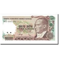 Turquie, 5000 Lira, 1990-1994, Old Date 1970-01-14, KM:198, NEUF - Türkei