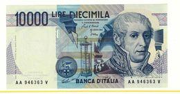 REPUBBLICA ITALIANA - 10000 LIRE ALESSANDRO VOLTA -  FIOR DI STAMPA - DECR. 03/09/1984 - CIAMPI - STEVANI  - AA946363V - [ 2] 1946-… : Républic