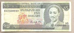 Barbados - Banconota Circolata Da 5 Dollari - 1986 - Barbados (Barbuda)