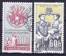 Tchécoslovaquie 1959 Mi 1122-3 (Yv 1007-8 ), Obliteré - Used Stamps