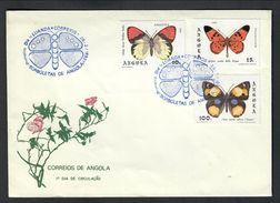 Angola 1981 Farfalle Su Busta Cod.bu.114 - Angola