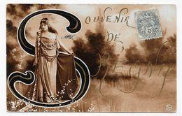 (RECTO / VERSO) REGNY EN 1905 - N° 1358 - SOUVENIR DE REGNY - PETIT PLI ANGLE BAS A GAUCHE - CPA VOYAGEE - Francia