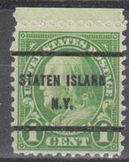 USA Precancel Vorausentwertung Preo, Bureau New York, Staten Island 632-61 - Vereinigte Staaten