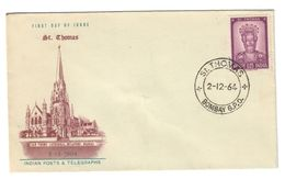 India 1964 St Thmas Su Busta Cod.bu.116 - India