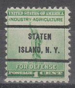 USA Precancel Vorausentwertung Preo, Bureau New York, Staten Island 899-72 - Vereinigte Staaten