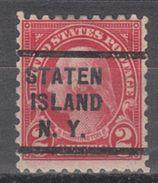 USA Precancel Vorausentwertung Preo, Locals New York, Staten Island 583-235 - Vereinigte Staaten