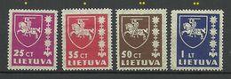 LITAUEN Lithuania 1937/39 Michel 414 - 416 & 432 **/* - Lithuania