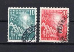 ALLEMAGNE FEDERALE 1949  Michel N° 111-112 Obl. - [7] Federal Republic
