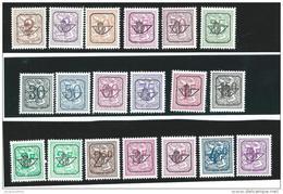 Belgie         OBP    V 780/798     **          Postfris  ZONDER  Plakker  /   Neuf  SANS  Charniere - Precancels