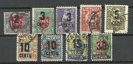 LITAUEN Lithuania 1922 = 9 Stamps From Set Michel 138 - 175 O - Litauen