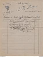 65 237 W TOURNAY HAUTES PYRENEES 1916 Vins J.M DORGANS Du CAFE NATIONAL ˆ JEAN DUBARRY De CASTELNAU D' AUZAN - France