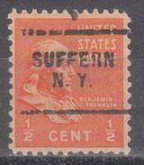 USA Precancel Vorausentwertung Preo, Locals New York, Suffern 703 - Vereinigte Staaten