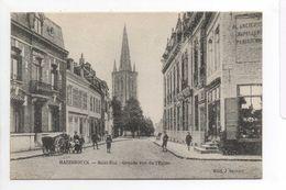- CPA HAZEBROUCK (59) - Saint-Eloi - Grande Rue De L'Eglise (belle Animation) - Edition J. Stoven - - Hazebrouck
