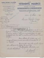 96 1677B ALGERIE ALGER 1941 Vetements Maurice Tailleur BENHAMOU - MESGUICH Rue Bab Azoun  Et Bab El Oued - Unclassified